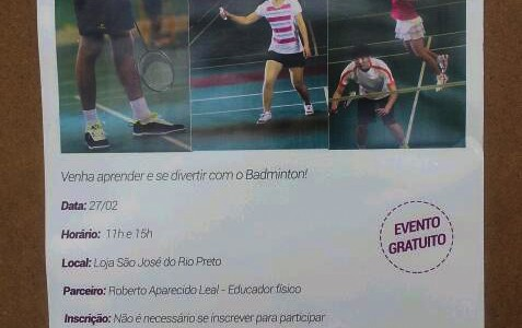 Oficina de Badminton na Decathlon